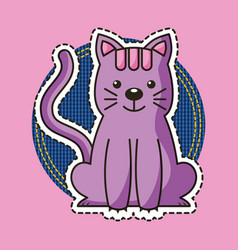 patches sticker animal vector image