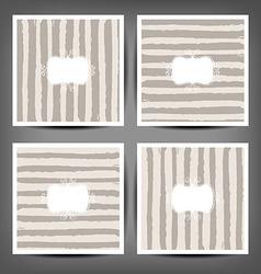 Set hand drawn striped seamless pattern vector