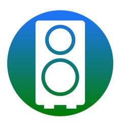speaker sign white icon in vector image vector image
