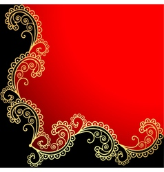 background with the frame vector image vector image