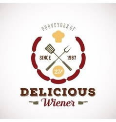 Purveyors of Delicious Wiener Hot Dog Vintage vector image