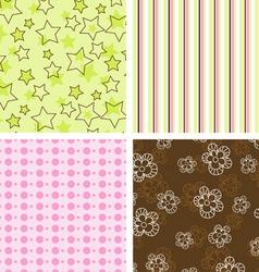 scrapbook patterns vector image vector image