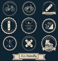 Urban transportation label design vector
