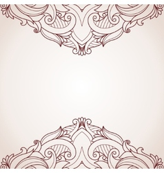Abstract floral greeting card vector image vector image