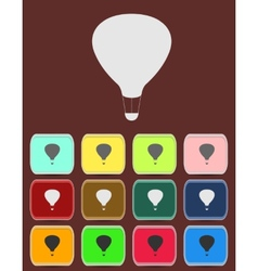 Air Balloon - icon isolated vector image vector image