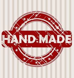Grunge rubber stamp with HAND MADE vector image