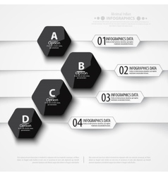 Modern infographics bubble speech template style vector image vector image