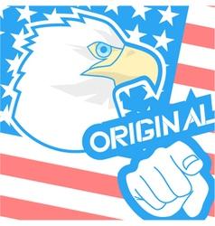 Original american flag vector image