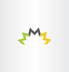 triple letter m logo symbol element vector image