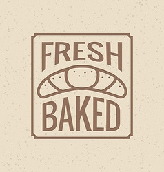 Bakery symbol vector image
