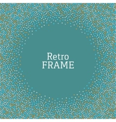 Colorful dot vintage retro frame background vector image