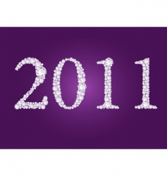 diamond 2011 year vector image vector image