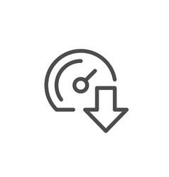 download speed line icon vector image