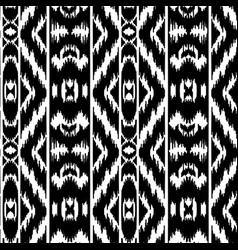 ethnic striped black and white seamless pattern vector image vector image