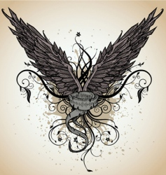 Grunge wing vector