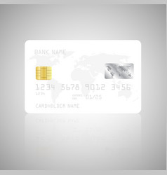 realistic detailed credit card template vector image