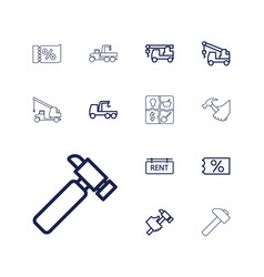 13 advertising icons vector