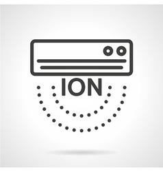 Air ionizer black line icon vector image