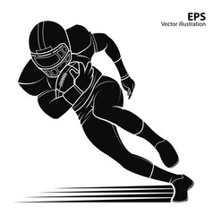 american football player silhouette vector image