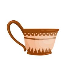 ancient grecian ornamented jug with handle old vector image