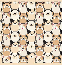 Animal seamless dog pattern pug cartoon vector