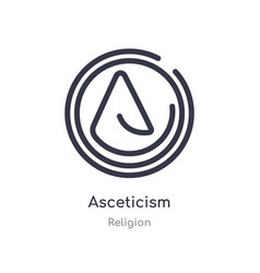 Asceticism outline icon isolated line from vector