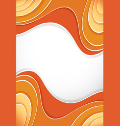 Background design with orange curves vector