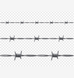 barbed wire warning and isolation decor vector image