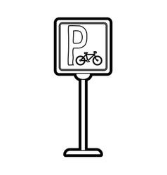 bike parking street sign vector image