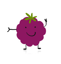Blackberry funny character for your design vector