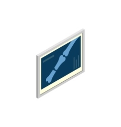 Bones x-ray dogs icon isometric 3d style vector
