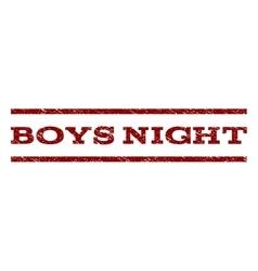 Boys Night Watermark Stamp vector