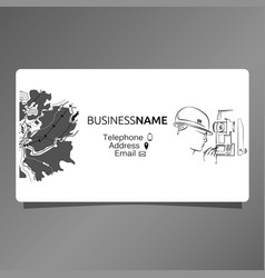 business card for surveyor vector image