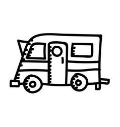 camping camper color icon design sign vector image