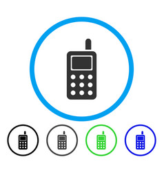 cell phone rounded icon vector image