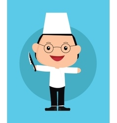 Chef kids vector