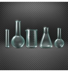 Chemical realistic test tubes set vector