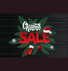 christmas sale season design template vector image
