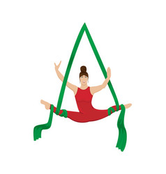 circus aerial gymnast on the canvases vector image