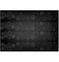 cogwheels on a black vector image
