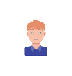 color image boy schoolboy on a white vector image