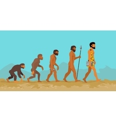 Concept of Human Evolution from Ape to Man vector image