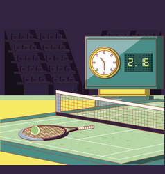 Court tennis sport vector