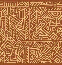 creative geometric seamless pattern vector image