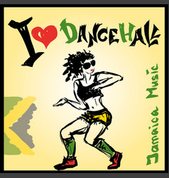 Dancer dancehall style hand drawing vector