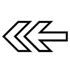 Direction Left Thin Line Icon vector