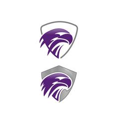 Eagle logo design template negative space vector