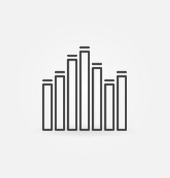equalizer sound concept icon in thin line vector image
