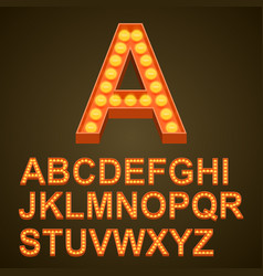 font bulbs art sign abc vector image