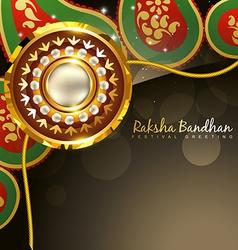 Golden rakhi for rakshabandhan vector